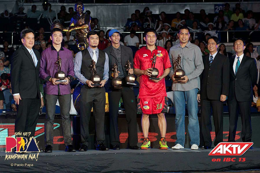 PBA Mythical 5 - from left, David, Caguioa, Santos, Yap, de Ocampo