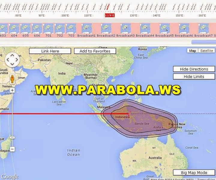 satelit parabola beam Indonesia thaicom 4 ku band