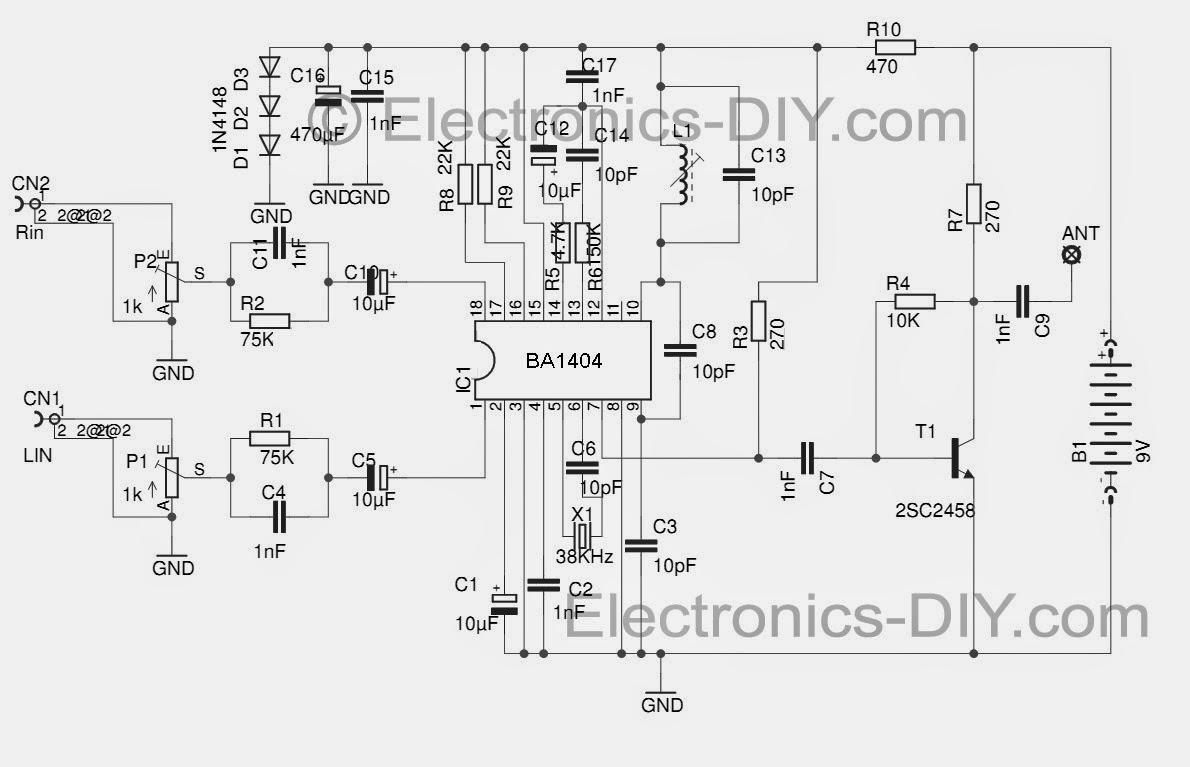transmetteur fm stereo avec ba1404