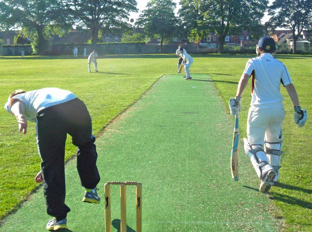 Action from the 2013 Briggensians v Sir John Nelthorpe School cricket match - picture on Nigel Fisher's Brigg Blog