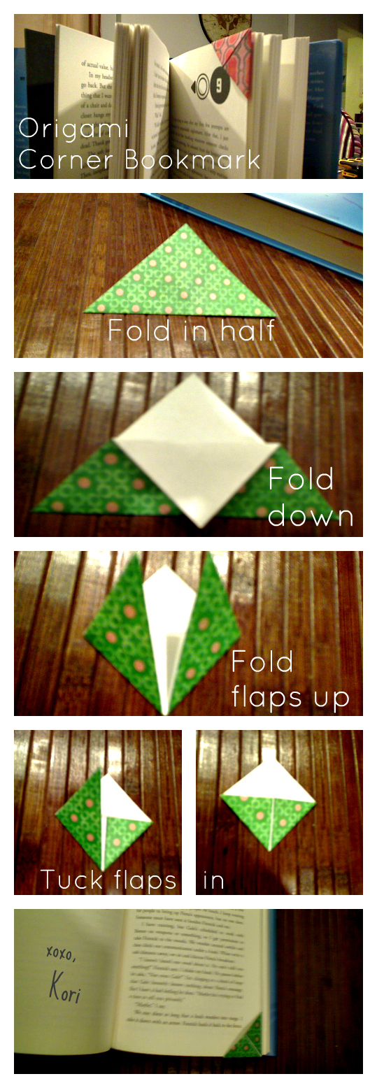 Novelty and chevron simple origami corner bookmark How to make a simple bookmark