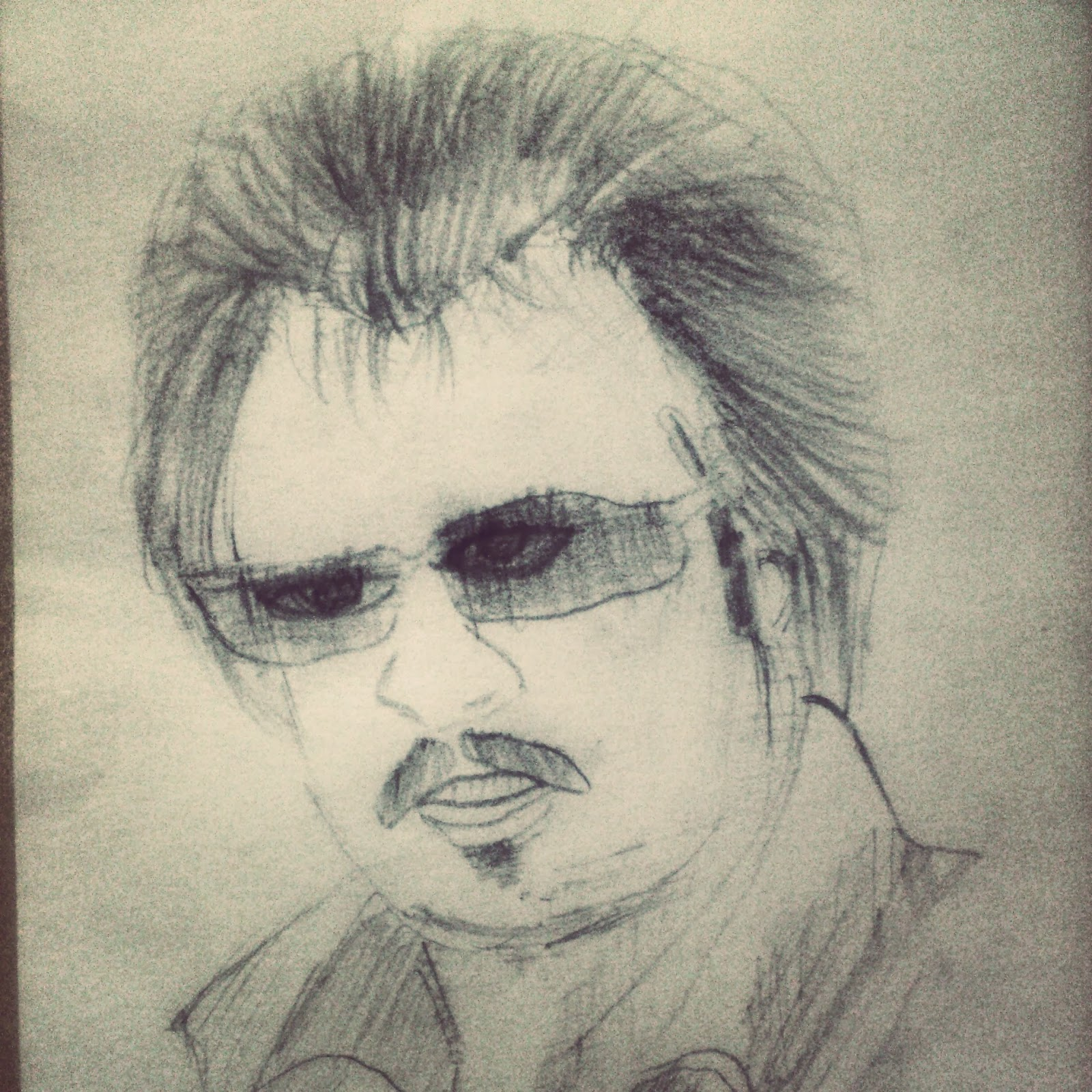 Sketch Of Superstar Rajnikant