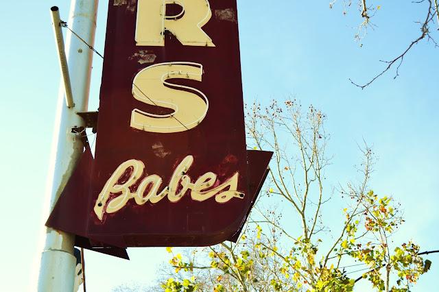 neon, sign, babes, san jose, vintage, americana, california