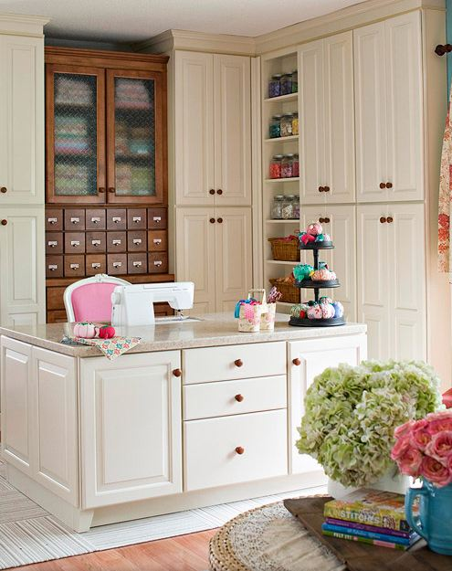 Custom Sewing Cabinet With Corian Countertop?
