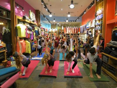 Yoga at Lululemon