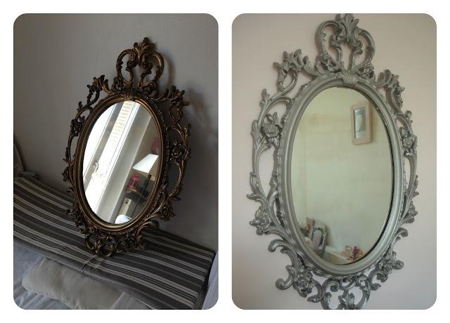 Tadaam miroir baroque pour chambre girly for Miroir baroque noir ovale