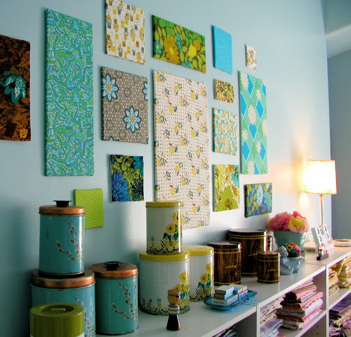 wall decor using canvas