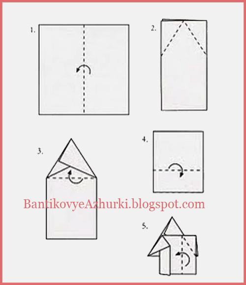 Схема - как сложить салфетку в елочку для новогоднего декора праздничного стола