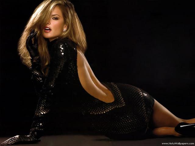 Alessandra Ambrosio in black