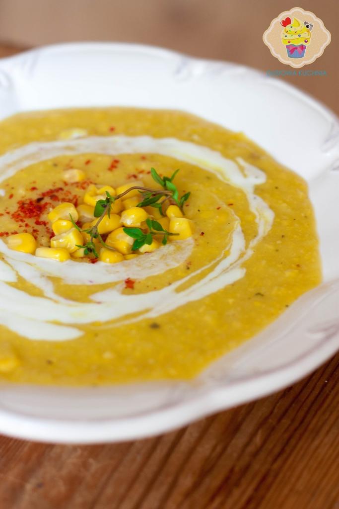 krem z kukurydzy, zupa krem z kukurydzy, zupa krem, zupa kukurydziana, krem kukurydziany