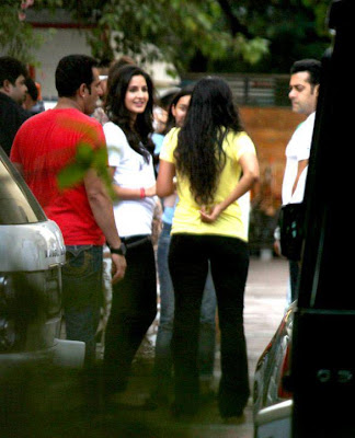 Katrina Kaif & Salman Khan at Ek Tha Tiger screening
