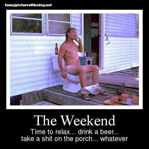 The Weekend Funny Redneck Porch Toilet With Beer And Phone