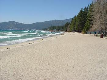 INCLINE BEACH, NEVADA SIDE OF LAKE TAHOE'S NORTH SHORE