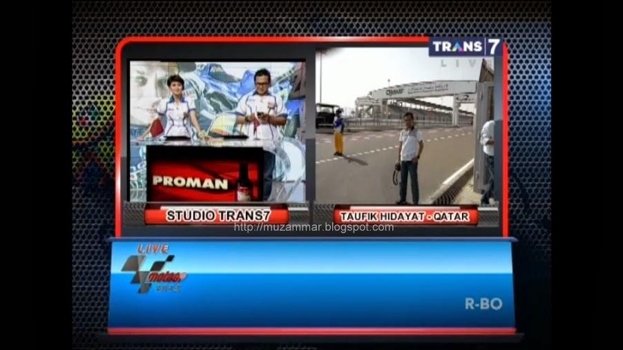 Tmcblog.com alias om Taufik jadi narasumber LIVE Race MotoGP Trans7 Losail Qatar . . . josss !