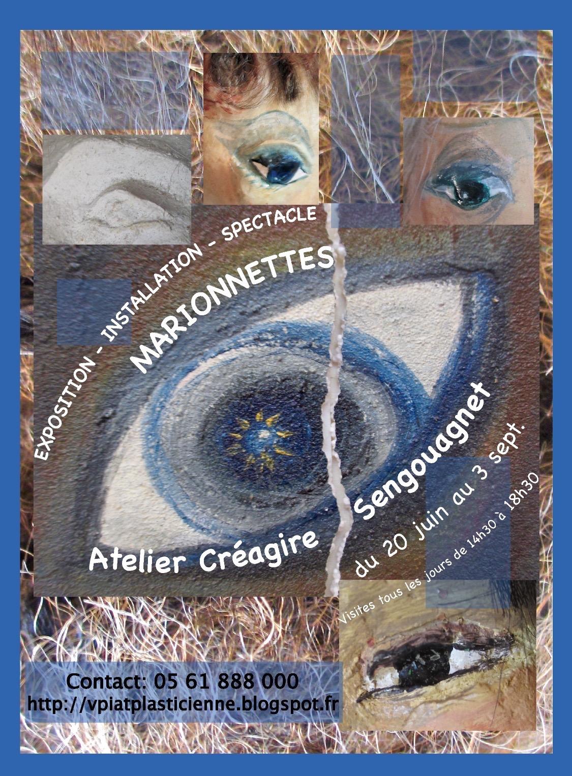 exposition marionnettes à L'atelier Créagire