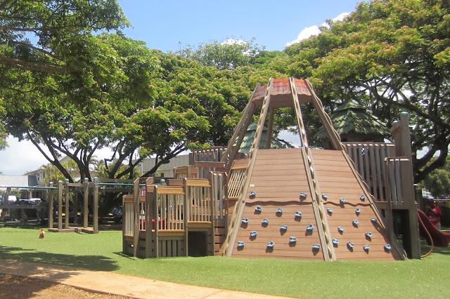 wonderful backyard rock climbing wall concept lush triangle shape design marvelous ladder and railing