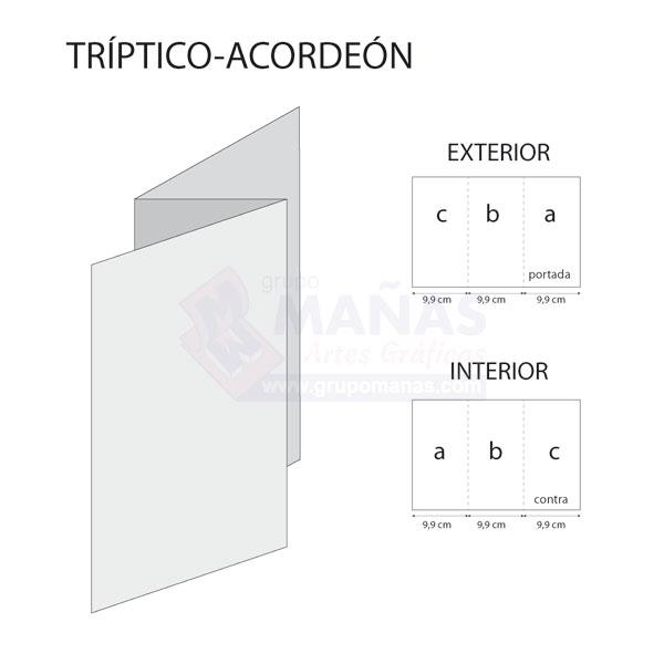 triptico acordeon