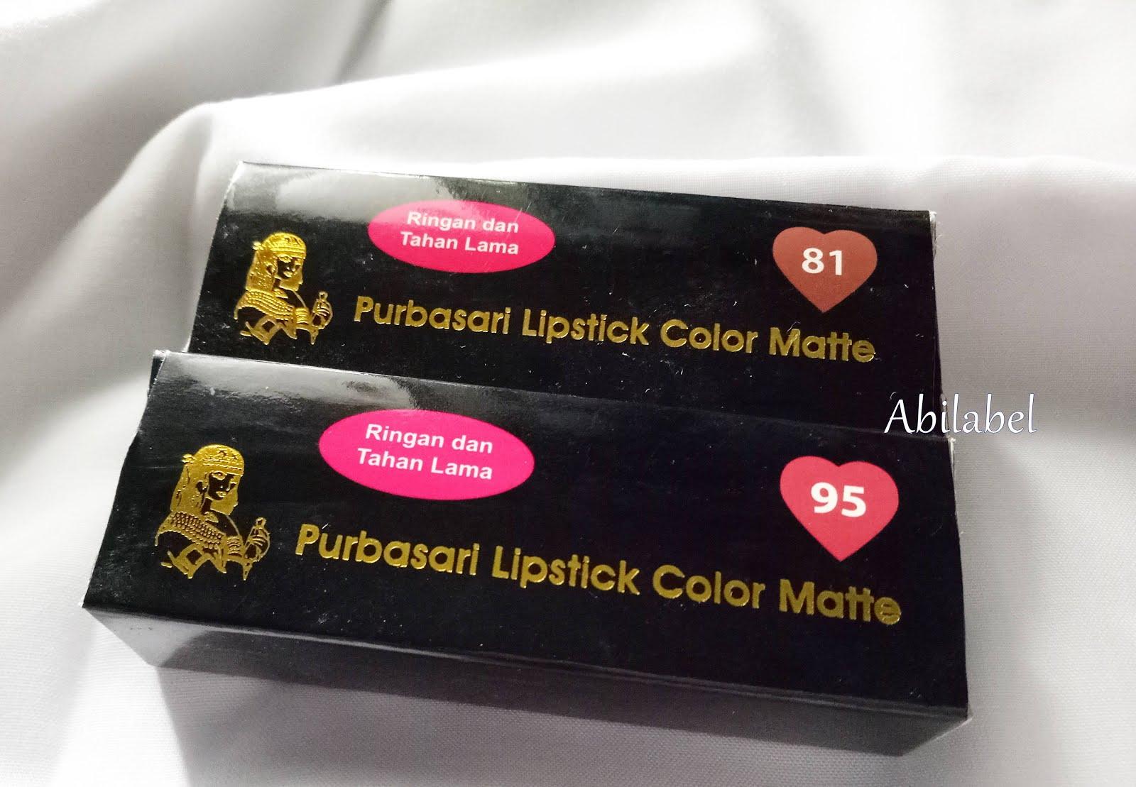 Abilabel Review Purbasari Lipstick Color Matte Lipstik Collor Jadi Mindset I Hate Make Up Itu Harus Hilang Dalam Kehidupan Aku Lol Oke Langsung Aja Ke Penampakannya Kebetulan Beli 2