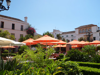 Plaza de los naranjos, Marbella in Spain