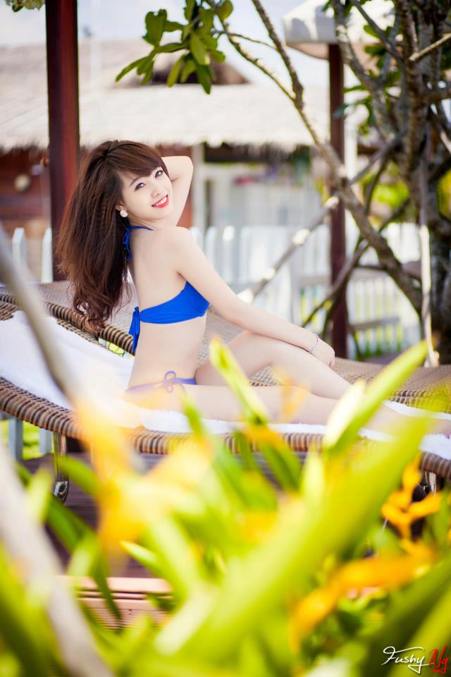 Ảnh gái đẹp HD Ngân Obe Mùa hè nóng bỏng 2