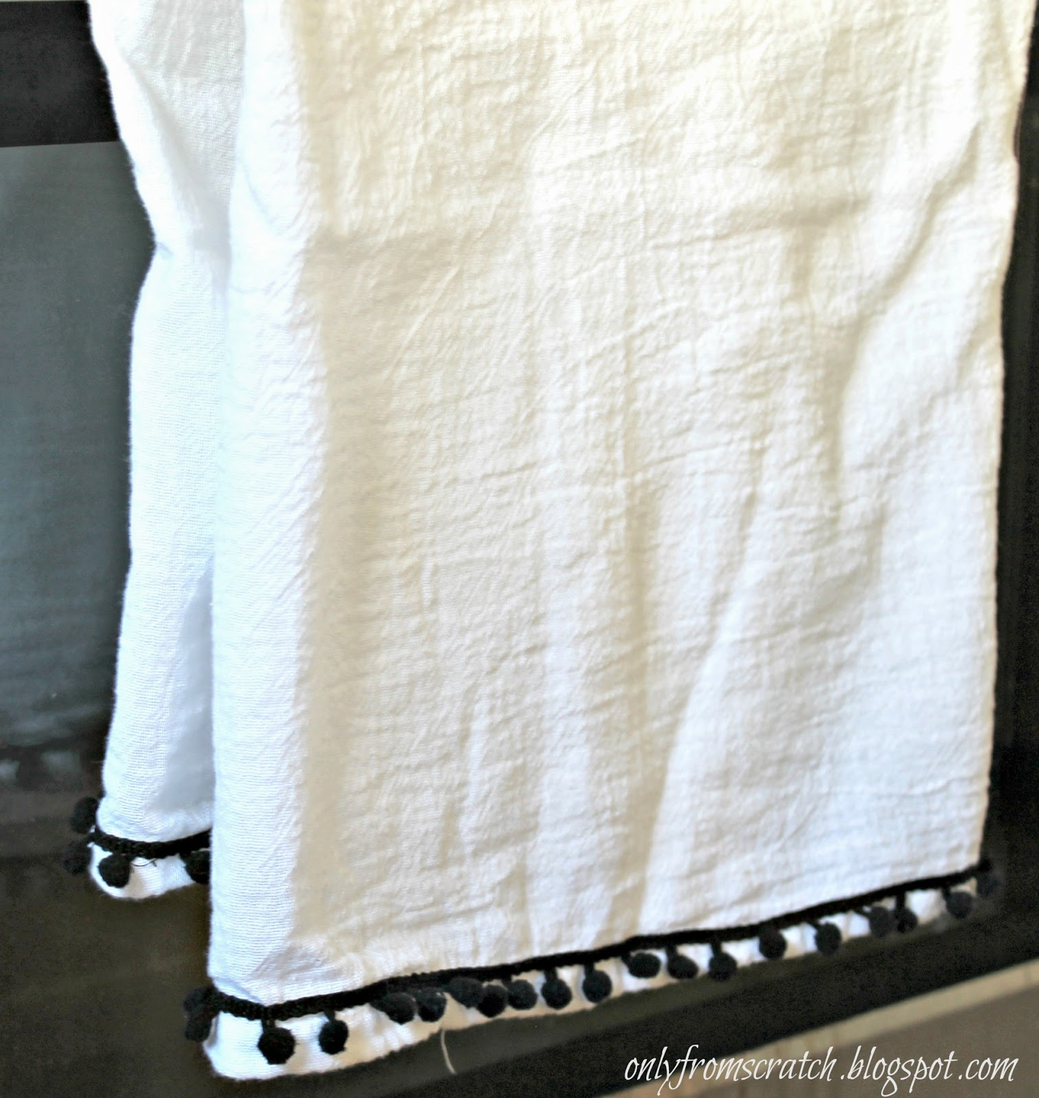 Only From Scratch: DIY Embellished Flour Sack Towels