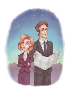 Mulder & Scully Illustration