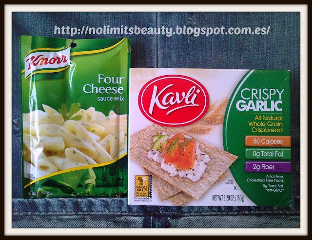 Knorr, Four Cheese Sauce Mix, 1.5 oz (43 g) Kavli, All Natural Whole Grain Crispbread, Crispy Garlic, 5.29 oz (150 g)