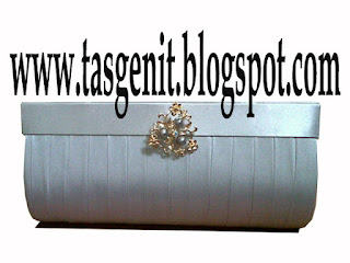 tas pesta clutch bag silver