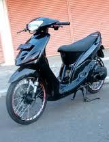 contoh modifikasi motor mio warna hitam