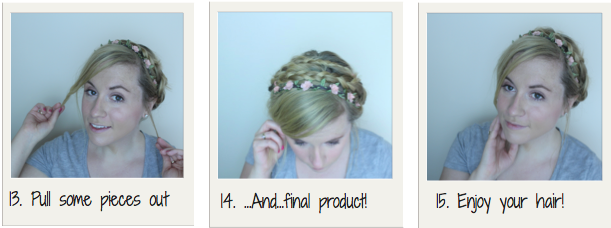 Milkmaid Braid and Flower Headband Photo Tutorial