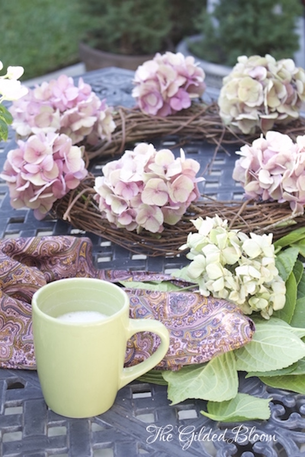 How to Make a Hydrangea Wreath...
