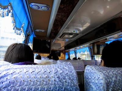 Inside E-go Bus to Cingjing Farm