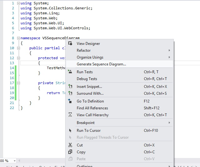 Netfreak generate uml sequence diagram from visual studio this will open up a window to define the settings to be used for generating this diagram you can set what level of code it should consider for generating ccuart Image collections