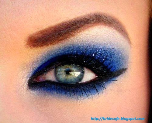 Sparkling Blue Eye Shade Makeup