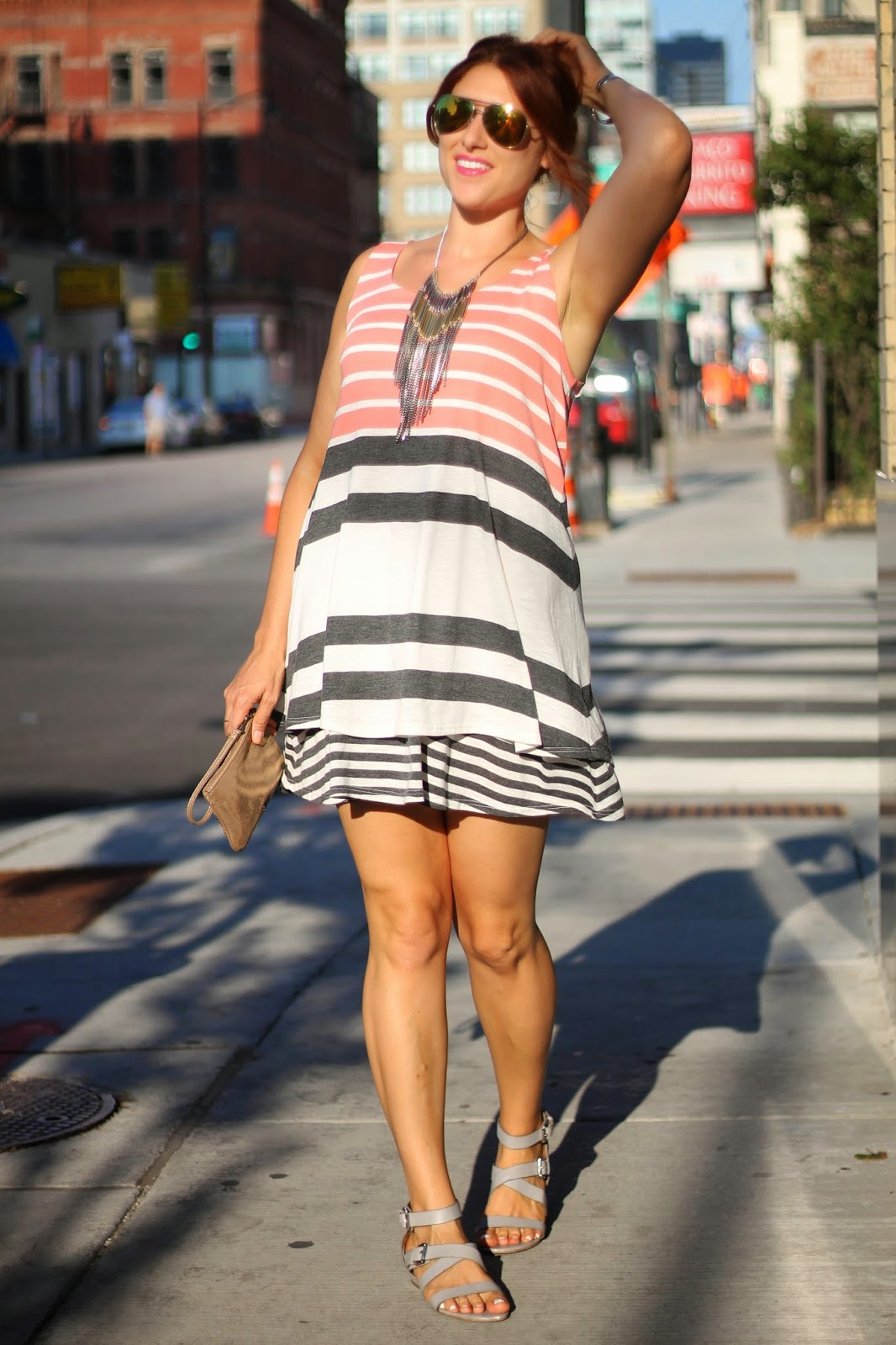 Striped, duet, dress, anthropologie