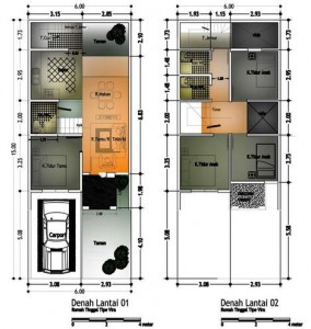 Modern House Design: House Plan Type 60 1 Floor And 2nd Floor