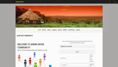 Baruk Dayak bidayuh social networking website
