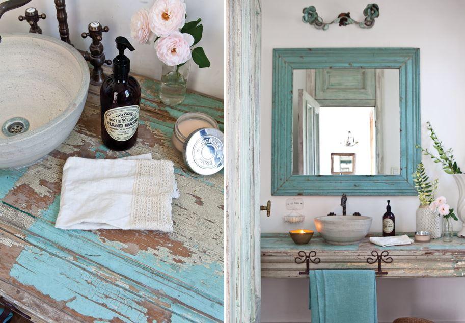 Depósito Santa Mariah Dois Banheiros Simples, Rústicos E Coloridos! -> Banheiro Simples Rustico