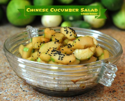 Chinese Cucumber Salad, another healthy salad recipe from A Veggie Venture.