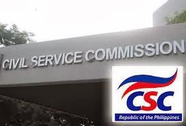Civil Service Commission (CSC) logo, building