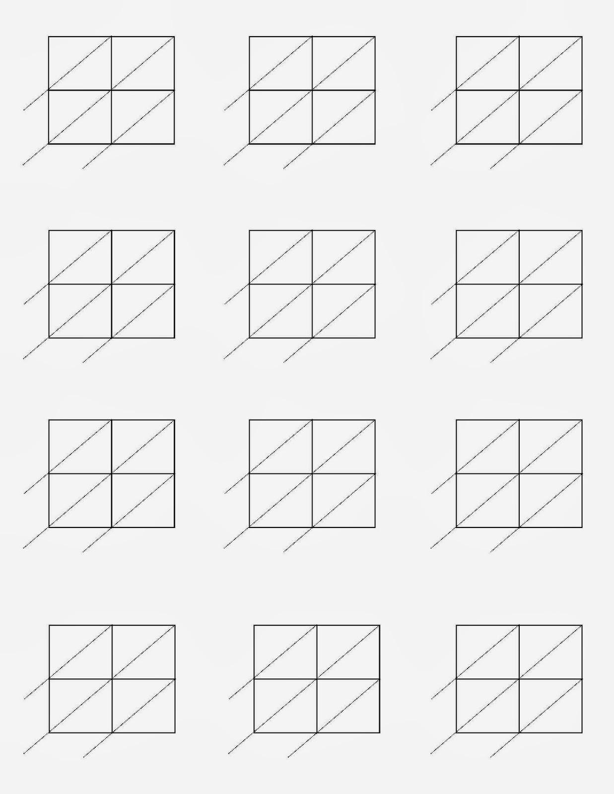 Printable Lattice Multiplication Template Related Keywords – Blank Lattice Multiplication Worksheets