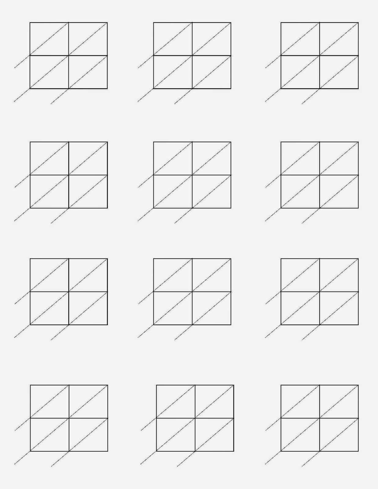 Blank Lattice Multiplication Worksheets Lattice Multiplication – Lattice Method of Multiplication Worksheets