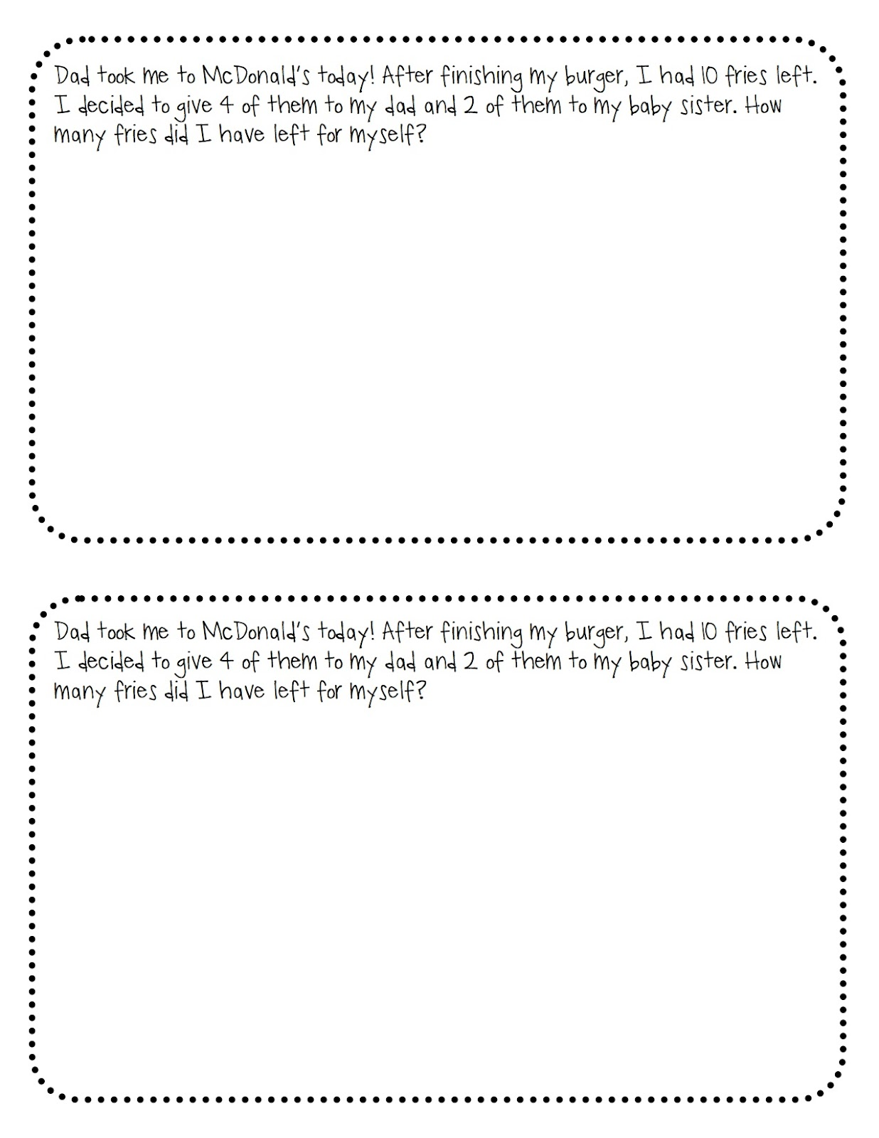 KinderTastic: Math Word Problems