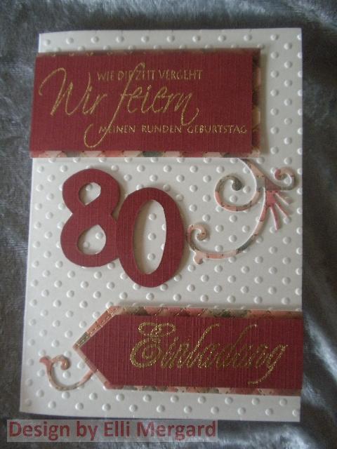 Ellis Eventkarten: Einladungskarten zum 80. Geburtstag