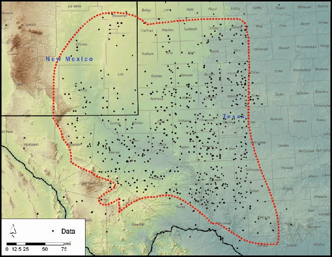 Map of Texas' Permian Basin