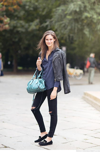 Ripped jeans street style 2015