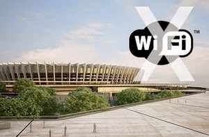 Apenas metade dos estádios da Copa terá rede Wi-Fi