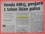 Kemenangan Pengguna Bijak Malaysia. Denda RM1juta,penjara 5 tahun IKLAN PALSU. Nu-Prep 100 TERBAIK
