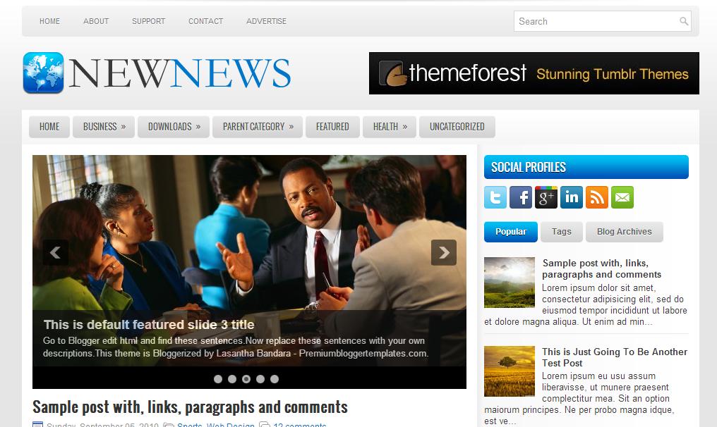news news blogger template