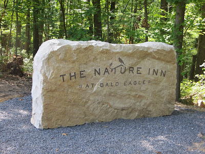 Entrance sign at the Bald Eagle State Park Nature Inn